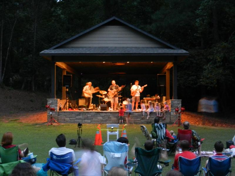 Band playing at the pavilion